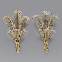 Louis SÜE & André MARE compagnie des arts français appliques plumes 1920 art deco perles