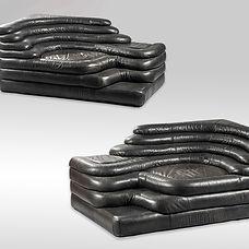 emmanuel eyraud ubald klug terrazza design de sede cuir leather italy sofa canapé auction encheres