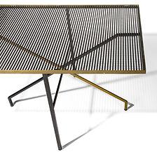 Mathieu Matégot salon ds arts ménagers 1957 table laiton métal laqué années 1950