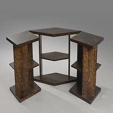 eugene printz table éventail bois de palmier
