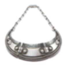jean despres spectaculaire collier moderniste en argent