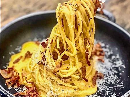 Et Simone Zanoni a choisi les spaghetti carbonara pour nous défier au cours du live de demain !