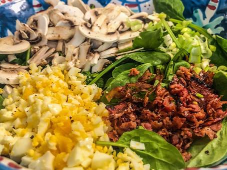 La salade de bistrot classique, tout droit ressortie de mes souvenirs d'enfance...
