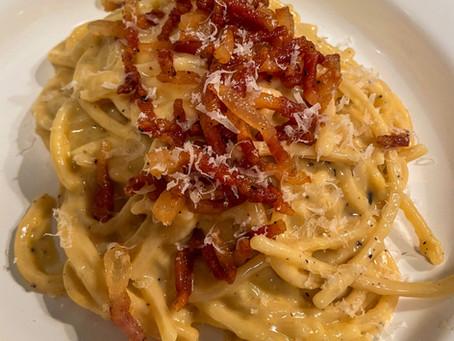 La recette des Spaghetti Carbonara de Simone Zanoni !