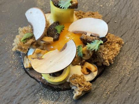 Souvenir d'un plat du chef Nicolas Thomas, au restaurant La Promenade à Verfeil