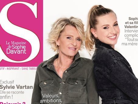 Sortie du 2e numéro de S, le magazine de Sophie Davant, dont nous partageons la couverture !