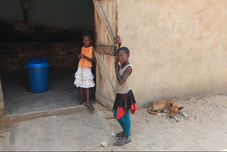 Young girls at Sioma, Zambia