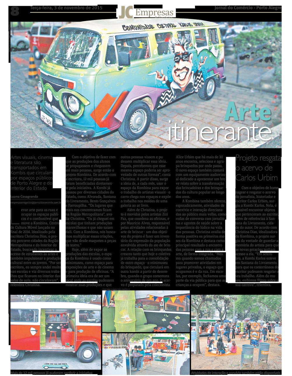 Matéria no Jornal do Comércio