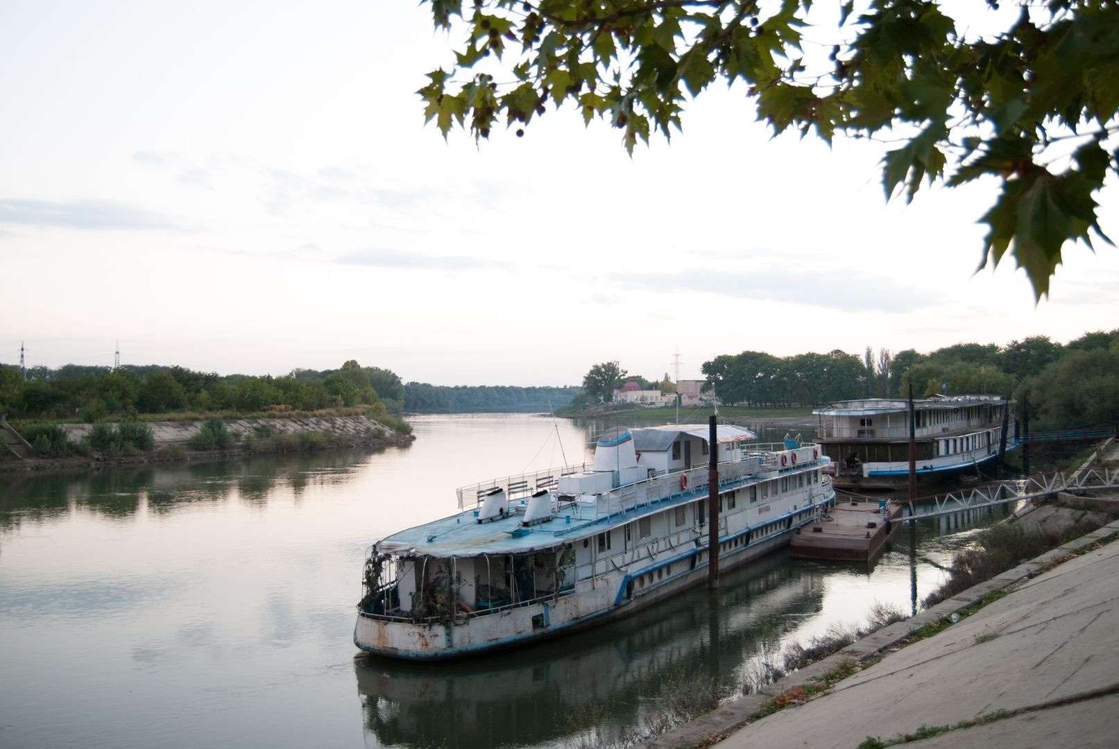 Dniester river embankment
