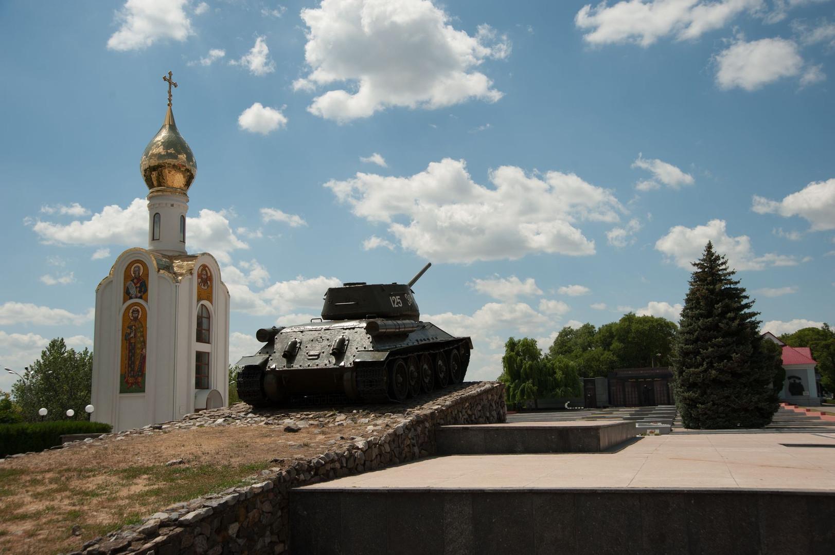 T-34 Monument at Tiraspol War Glory Memorial
