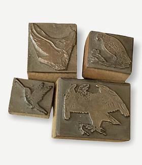 Vintage Letterpress Blocks, Birds