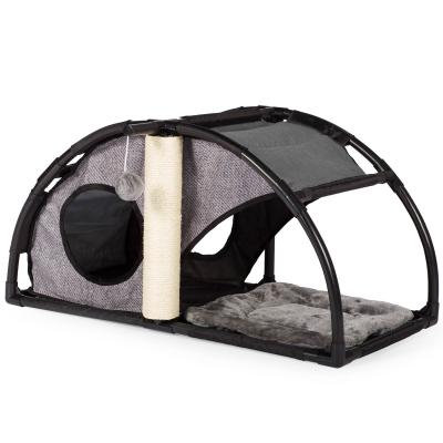 Condominio cama para gato CATVILLE-Gris