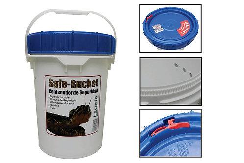 Cubeta de Seguridad para Contención de Serpientes Venenosas