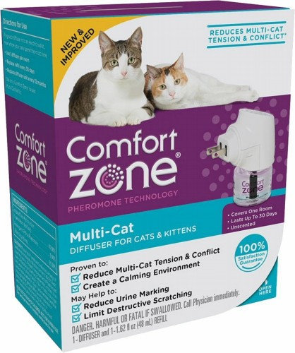 Comfort Zone Difusor Feromonas Multi Gatos Reduce El Estrés
