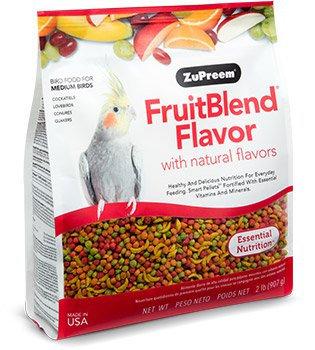 Alimento Zupreem Fruitblend Ninfas Y Agaporni 907g