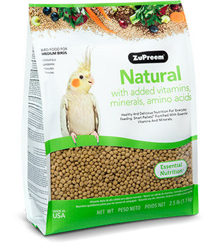 Alimento Zupreem Natural para Tucán, Ninfas Y Agapornis 1.13kg