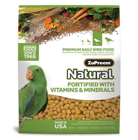 Alimento Zupreem Natural Loros Medianos