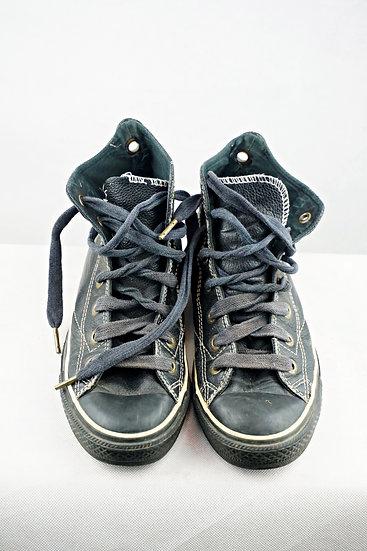 Converse Leder schwarz