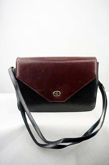 Vintage mittelgroße Umhängetasche braun/schwarz