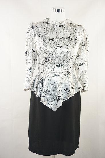 """"""" Der Denver Clan""""-  weiß/schwarz 80s Kleid"""