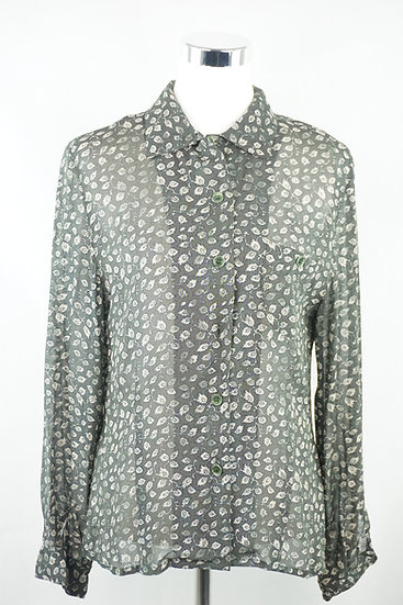 Efeu Bluse grün/weiß