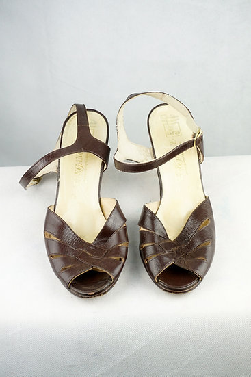 Vintage Riemen Sandalette braun