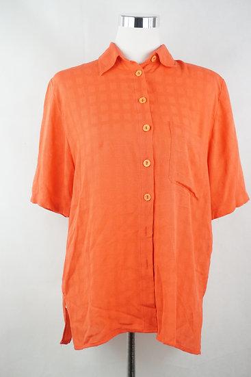 """""""Feuer und Flamme!""""- Orange Bluse für Sommer !"""