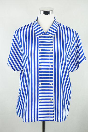 """""""Maritim""""- schöne Bluse blau/weiß"""