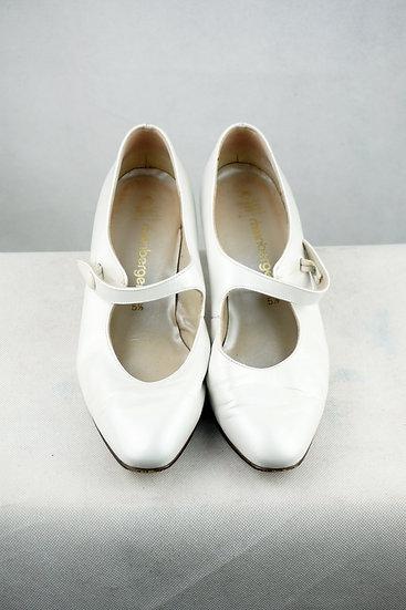 Braut Vintage Mary Jane weiß