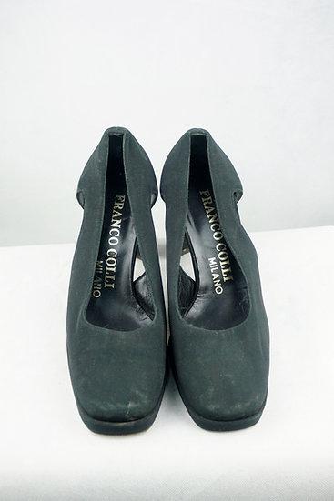 Blockabsatz schwarze Schuhe
