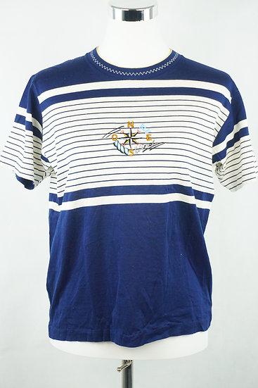 """Maritim!"" T-Shirt blau/ weiß"