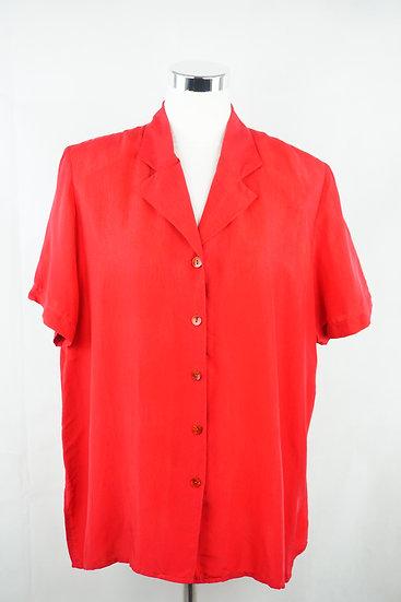 Basis Oversized Vintage Rote Bluse