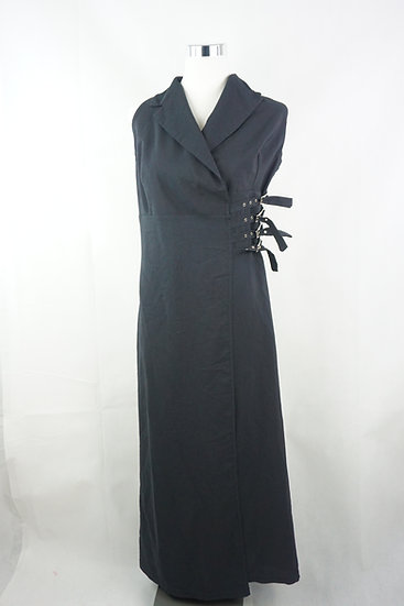 """""""Gothic Lady""""! - schwarzes Kleid mit Schnallen"""