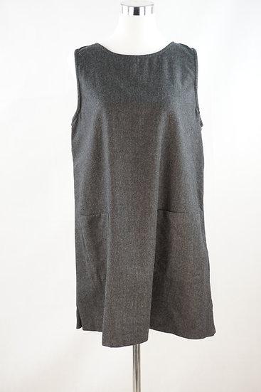 """Graues """"Basis"""" Kleid mit Taschen"""
