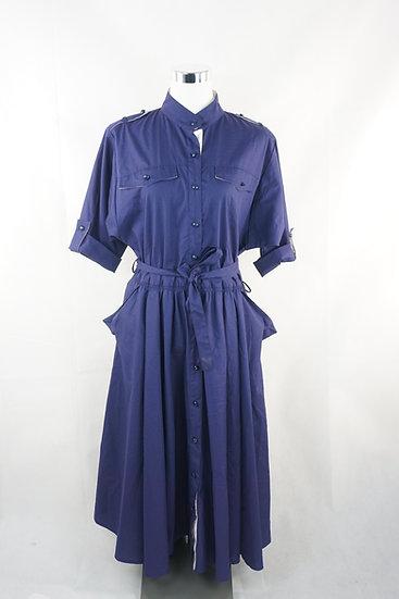 """""""Wunderschön!"""" - blaues Kleid mit Knopfleiste"""