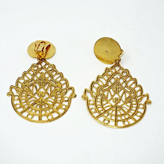 Goldene Orientalische Ohrclips
