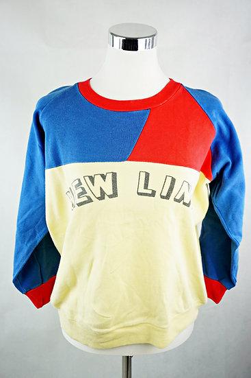 """New Line"" Sweatshirt blau/ rot/ gelb"