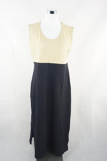 """""""zwei Gesichter""""- beige/ schwarz Kleid"""