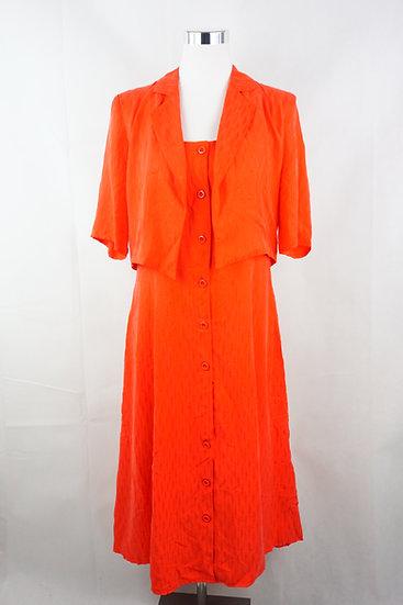 """""""Hot Summer!"""" Rotes Kleid mit Jäckchen"""