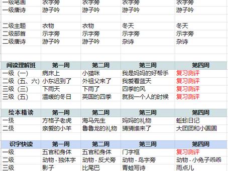 苗苗语文课 2021  January Time table is out now
