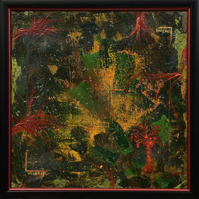Call of the rainforest. Acrylic. 40x40