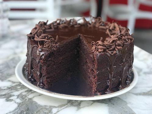 Chocolate Cake with Chocolate Shavings