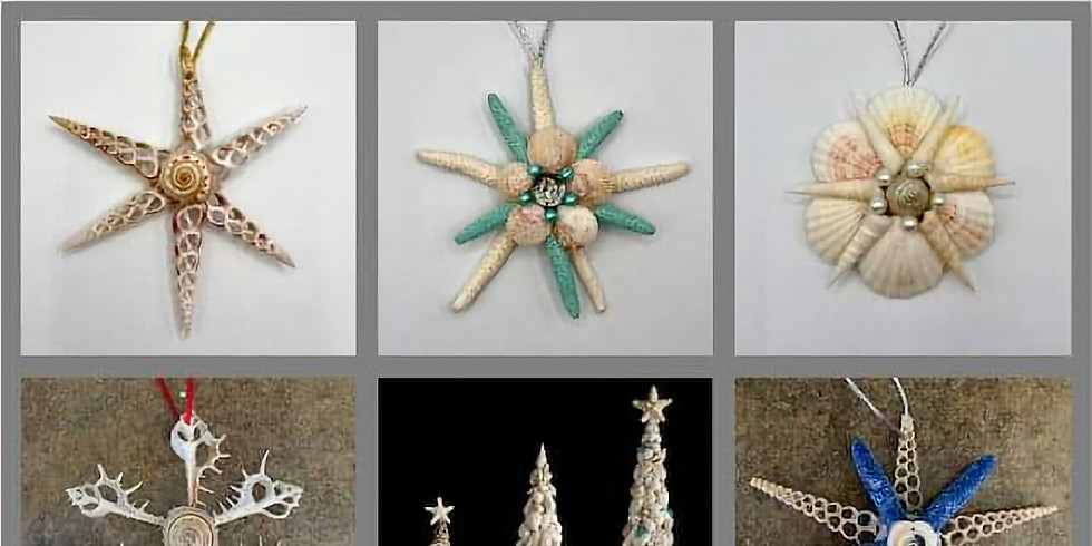 """""""Christmas in July!  Seashell Christmas Tree and Ornaments Workshop""""with Vera Rekstad"""
