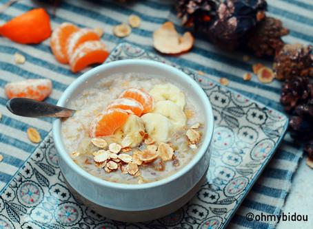 Porridge aux épices de Noël