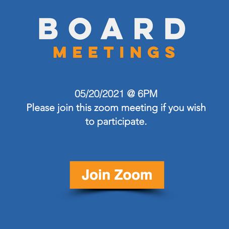Board Meeting 05/20/2021