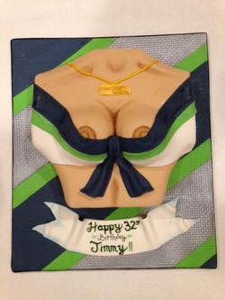 SeaGals Uniform Booby Cake