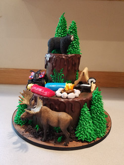 Outdoors Camping cake