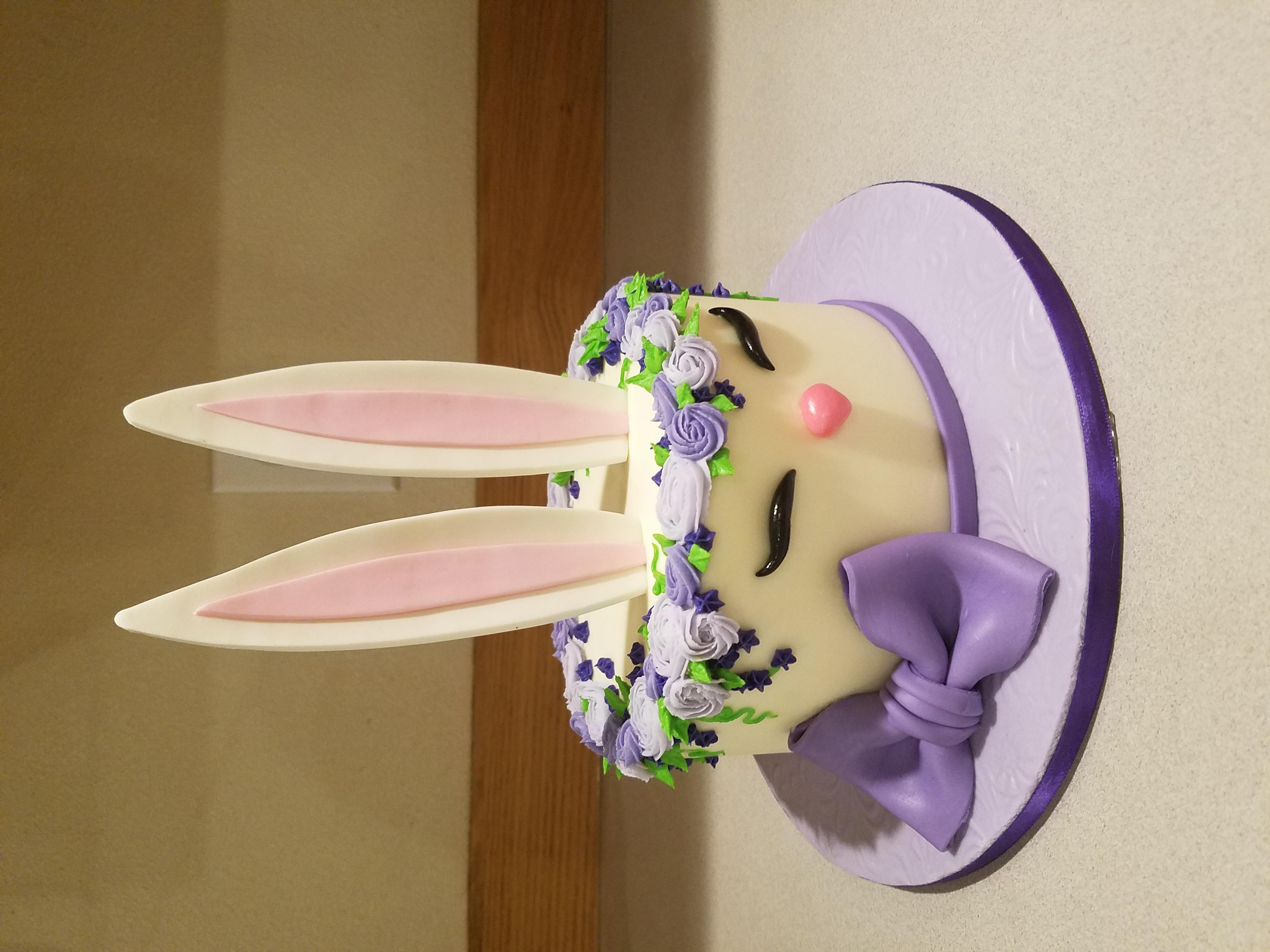 Bunny cake for egg hunt