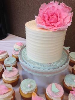 Peony Bridal Shower Cake