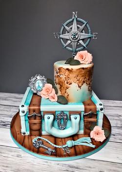 Paris Travel Cake
